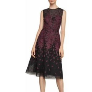 BCBG Floral embroidered size 8 evening dress